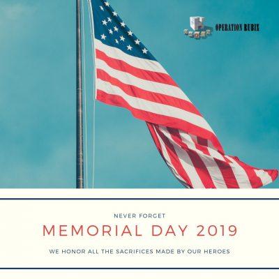 Memorial Day 2019 American Flag